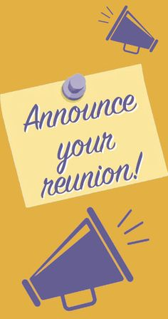 Add Your Upcoming Reunion! Family Reunions, Free Stuff, Announcement, Ads, Family Gatherings