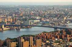 The Williamsburg Bridge connects Manhattan with Williamsburg #NYC. Read more: http://www.nyhabitat.com/blog/2014/05/05/live-like-local-lower-east-side-manhattan-new-york/