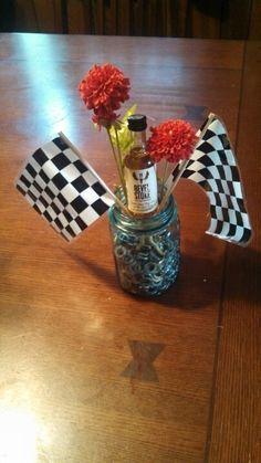 Centerpiece for NASCAR party