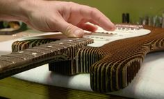 The Master Builders at Fender Made a Playable Cardboard Guitar