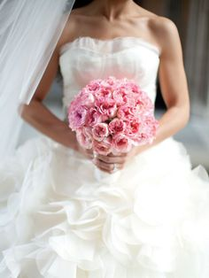 12 bouquets de noiva em rosa claro
