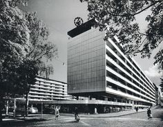 viljo revill - city centre quarter of vaasa, finland, Installation Art, Cosmic, Finland, Modern Architecture, Skyscraper, Mid Century, Clouds, Landscape, City