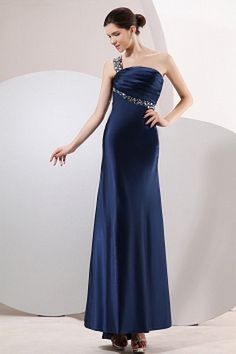 Sheath one shoulder asymmetrical charming evening dress with pearls of … - Magnet Mode City Cheap Wedding Dress, Wedding Party Dresses, Bridesmaid Dresses, Prom Gowns, Bride Dresses, Bridesmaids, Evening Dresses Plus Size, Evening Gowns, Mother Of The Bride Trouser Suits
