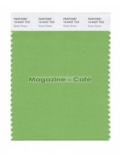 Pantone Smart 15-6437 TCX Color Swatch Card, Grass Green - Pantone