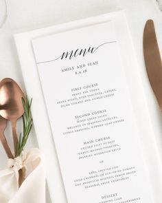 55 best menu ideas images in 2018 wedding ideas wedding
