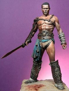 - Spartacus, Thracian Leader of the Slaves, Third Servile War. Sculpted by Raul Garcia Latorre. Spartacus, Shelf Life, Figure Painting, Timeline, American History, Sculpting, Third, Africa, War