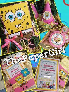 Spongebob Squarepants Birthday Party  in a by ThePaperGirlbyANM