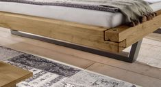 Bett Darica mit stylischen Stahl-Kufen Outdoor Furniture, Outdoor Decor, Industrial Style, Bench, Interior Design, Bedroom, Storage, Home Decor, Houses