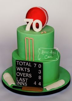 Cricket Cake for a Birthday – Little Hill Cakes Cricket Birthday Cake, Cricket Theme Cake, 60th Birthday Cake For Men, Birthday Desserts, Themed Birthday Cakes, 11th Birthday, Birthday Board, 18th Cake, Dad Cake