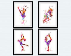 Figure skating colorful print Ice skating watercolor poster Figure skating art print Home decoration Kids room decor Sport art poster For more sport posters you can see here https://www.etsy.com/shop/ColorfulPrint/search?search_query=sport&order=date_desc&view_type=list&ref=shop_search This is a print of my original watercolor illustration made on watercolor textured paper with professional Epson Stylus printer. SPECIAL offer for LIMITED TIME ONLY: BUY 2 GET 1 FREE How does it work? 1. Or...
