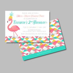 Tutti Fruitti Flamingo Birthday Invite par aprettylittleparty