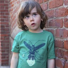 Glow-in-the-dark firefly t-shirt for kids at Elemental Ts. Our kids would LOVE this.
