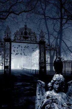MidNightAngel7 Photos Gothiques, Old Cemeteries, Graveyards, Dark Photography, Dark Gothic, Gothic Art, Halloween Art, Mists, Spooky Places