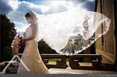 Beautiful bridal portrait. Love the flowing veil. www.ArisingWeddings.com #arisingimages #michigan #wedding #photography #bride #dress
