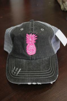 f7abfd01a65 Pink Pineapple Trucker Hat