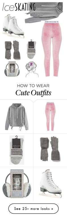 """Cute ice skating"" by marie-fashion93 on Polyvore featuring WithChic, Topshop and iceskatingoutfit"