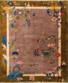 Art Deco Chinese Rug x Floor Cloth, Floor Rugs, Art Decor, Decoration, Tibetan Rugs, Art Deco Rugs, Art Deco Furniture, Chinese Art, Chinese Rugs