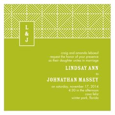 Stylish Wedding Invitations -- Mesmerizing Monogram