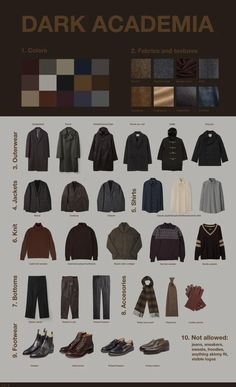 Dark academia is a dark, college-inspired aesthetic outfit. The outfits are inspired by urban dress with a dark and intelligent edge. They incorporate. Aesthetic Fashion, Look Fashion, Aesthetic Clothes, Aesthetic Outfit, Fashion Pants, Aesthetic Style, Queer Fashion, Nature Aesthetic, Androgynous Fashion