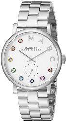 Marc by Marc Jacobs Women's MBM3420 Baker Analog Display Analog Quartz Silver-Tone Watch