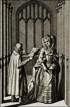 The Life of Roger Ascham (1515-1568) Roger Ascham and Princess Elizabeth. Engraving by Michael Burghers, 17th-c.