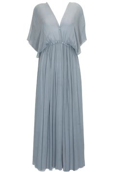 Grey kaftan sleeves georgette dress available only at Pernia's Pop-Up Shop.