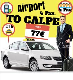 ALICANTE AIRPORT TO CALPE FOR 4 PAX. www.alicante-airporttransfers.com/en/