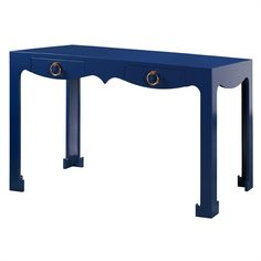 @rosenberryrooms is offering $20 OFF your purchase! Share the news and save!  Jacqui Console Desk - Navy Blue #rosenberryrooms