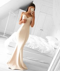 Simple sweetheart neck mermaid long prom dresses, evening dress