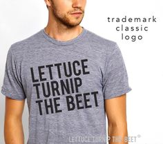 lettuce turnip the beet ® OFFICIAL SITE -  the classic heather grey track tee with logo - unisex S - XXL - seen in Modern Farmer magazine by coup on Etsy https://www.etsy.com/listing/90119361/lettuce-turnip-the-beet-official-site