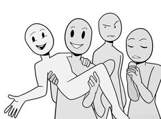 "Manga Drawing peinto: "" Draw the Squad Meme (original) "" - Draw The Squad, Drawing Base, Manga Drawing, Funny Drawings, Art Drawings, Funny Poses, Drawing Prompt, Drawing Ideas, Art Prompts"