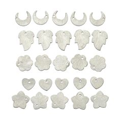 Silver Flash Copper Brushed Fancy Charms, Pack of (25 pcs)