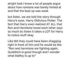 Harry oblivious potter