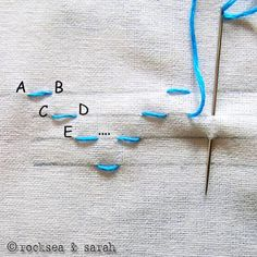 holbein stitch pattern; blog full of embroidery stitches
