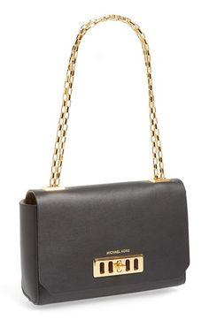 Michael+Kors+'Vivian'+Leather+Shoulder+Bag+available+at+#Nordstrom