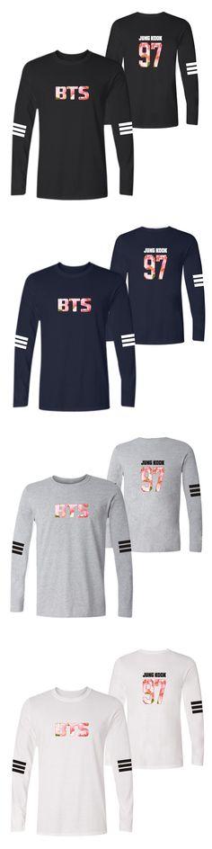 Bts Bangtan Boys Cherry Blossoms Cotton O-Neck Long Sleeve T-Shirt Men and Women Casual T Shirt Tops Tee