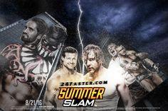 WWE SummerSlam 2016 Poster – HD Wallpaper Ft. Dean Ambrose, Dolph Ziggler, Seth Rollins, Finn Bálor, Randy Orton, Brock Lesnar