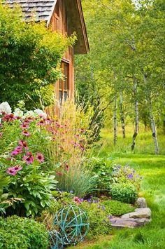 Well Kept and Colourful Backyard Garden