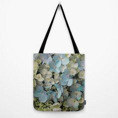 White Hydrangeas Print Floral Tote Bag Flower by AmandaJaneDalby Best Tote Bags, Cute Tote Bags, Floral Tote Bags, White Hydrangeas, Purse Styles, Printed Bags, My Bags, Flower Prints, Handbag Accessories