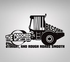 Construction Roller Luke 3:5 Wall decals by TheCreepingTree
