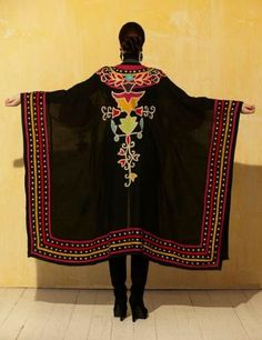– Ceremonial Robe Cover Up - Roja – Ann Tobias Boho Fashion, Fashion Dresses, Womens Fashion, Fashion Design, Cowgirl Chic, Cowgirl Bling, Western Wear For Women, Bohemian Mode, Native American Fashion