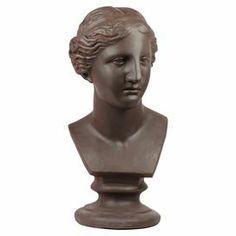 "Decorative bust.   Product: BustConstruction Material: FiberstoneColor: BronzeDimensions: 13.25"" H x 7"" W x 6"" D"