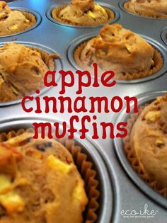 Apple Cinnamon Muffins.  They're gluten-free and can be sweetened w/ stevia or maple syrup.  Chunks of apple, cinnamon and nutmeg yumminess :)