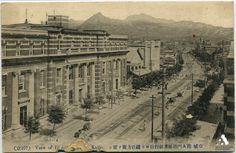 京城 南大門通り殖産銀行前より鐘路方向を望む Source: http://www.tobunken-archives.jp/DigitalArchives/record/26482A8D-A802-B9BA-4EE1-FD9FE1950A35.html?lang=ja