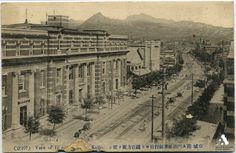 Keijo (Seoul): Namdaemun Street looking towards Jongro from the front of the German bank, circa 1915 Kyouso Namdaemun Street Looking towards Bell Road from the front of the germany bank京城 南大門通り殖産銀行前より鐘路方向を望む Source: http://www.tobunken-archives.jp/DigitalArchives/record/26482A8D-A802-B9BA-4EE1-FD9FE1950A35.html?lang=ja