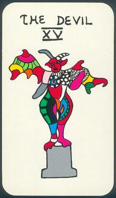 Tarot cards // The devil // Niki de Saint Phalle // Drawing