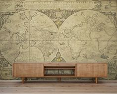 World map wall mural vintage old map of the world by styleawall vintage world map wall mural by pixers eclectic wallpaper gumiabroncs Choice Image