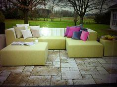 meubel groen  Op maat gemaakte #meubels by www.outdoorloungekussens.nl