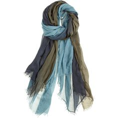 FALIERO SARTI Ombre Tom Modal Blend Scarf (385 AUD) ❤ liked on Polyvore featuring accessories, scarves, blue shawl, lightweight scarves, ombre scarves, faliero sarti and green shawl