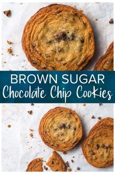 These Brown Sugar Chocolate Chip Cookies (Cow Chip Cookies) are made with light brown sugar, butter, and chocolate chips. They're super easy to whip up and without a doubt my favorite cookie ever. Trust me they're addictive! Cow Cookies, Brown Sugar Cookies, Chocolate Sugar Cookies, Best Chocolate Chip Cookie, Fancy Cookies, Chocolate Chips, Keto Cookies, Peanut Butter Chips, Peanut Butter Cookie Recipe